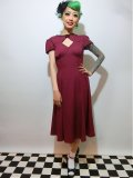 ☆HELL BUNNY☆ Nell Dress Burgundy 9号
