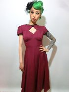 他の写真1: ☆HELL BUNNY☆ Nell Dress Burgundy 9号