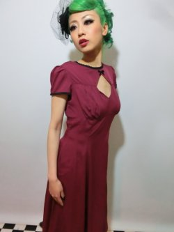 画像2: ☆HELL BUNNY☆ Nell Dress Burgundy 9号