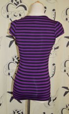 他の写真3: SOURPUSS ☆  VAVAVOOM TOP BLACK/PURPLE STRIPES SizeS 9号