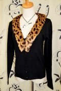 ☆Collectif☆Leopard Fur Cardigan 7号