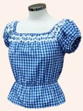 Vivien of Holloway Gypsy Top Gingham Blue SizeS(7号)