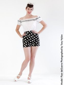 画像2: Vivien of Holloway Black White Dot Shorts Size12(9号)