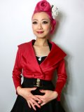 ☆Collectif☆Gilda Cropped Jacket Red 5号