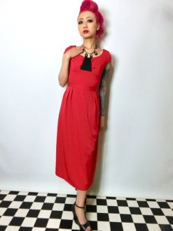 画像1: ☆Lindy Bop☆Mercy Tea Dress Red 7号