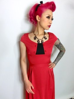 画像3: ☆Lindy Bop☆Mercy Tea Dress Red 7号