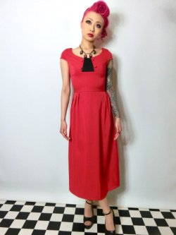 画像2: ☆Lindy Bop☆Mercy Tea Dress Red 7号