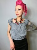 ☆Collectif☆Renie Gypsy Gingham Cropped Top Black 11号
