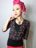 ☆Collectif☆Jenny Cherry Print Wrap Cardigan 7号