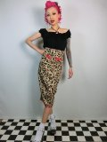 ☆Collectif☆Vanya Leopard Print Skirt 7号