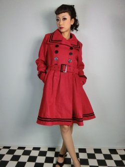 画像1: ☆HELL BUNNY☆ New Millie Coat Red 13号