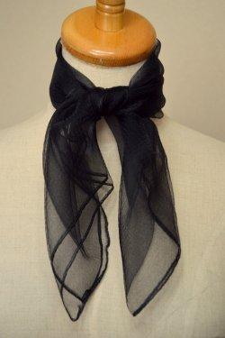 シフォンスカーフ(黒)