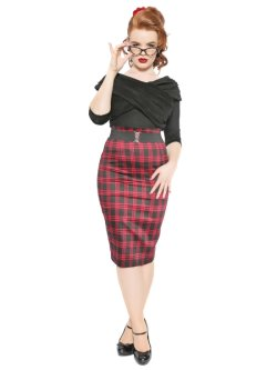 画像3: ☆Collectif☆Fiona Check Print Skirt  15号