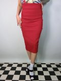 ☆Collectif☆Fiona Skirt Plain - Red 15号