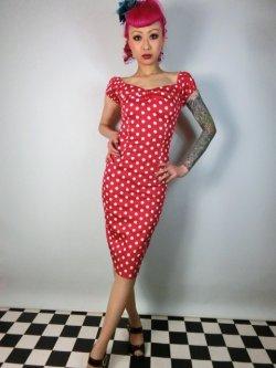画像2: ☆Collectif☆Dolores Dress Polka Red 17号