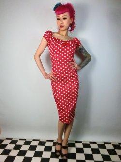 画像3: ☆Collectif☆Dolores Dress Polka Red 17号