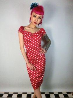 画像5: ☆Collectif☆Dolores Dress Polka Red 17号