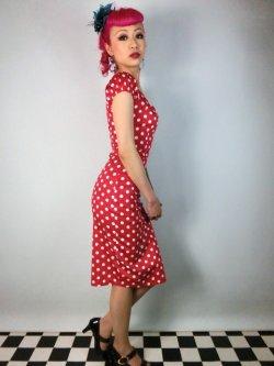 画像4: ☆Collectif☆Dolores Dress Polka Red 17号