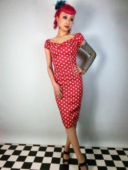 画像1: ☆Collectif☆Dolores Dress Polka Red 17号