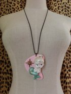 他の写真1: CHARCOAL DESIGNS Mermaid Boomerang Necklace  Pink