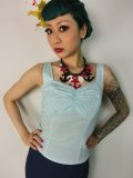 ☆Collectif☆Sophia Gingham Top Mint 7号