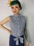 ☆Collectif☆Camille Tie Blouse Navy 11号