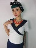 ☆Collectif☆Doreen Top Ivory/Navy 9号