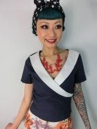 他の写真1: ☆Collectif☆Doreen Top Navy/Ivory 9号