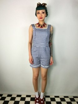 画像1: ☆Collectif☆Gemma Gingham Playsuit  11号