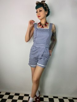 画像2: ☆Collectif☆Gemma Gingham Playsuit  11号