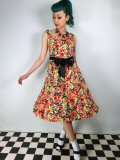 ☆Lindy Bop☆Ellen Fabulous Orange Floral Dress 11号