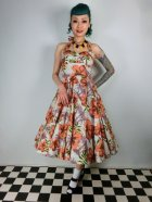 他の写真1: ☆HELL BUNNY☆Kaila 50s Dress Flower Print 9号