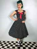 ☆Lindy Bop☆Alanis Pretty In Black Polka Dress 11号