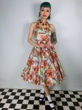 ☆HELL BUNNY☆Kaila 50s Dress Flower Print 9号