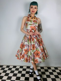 画像1: ☆HELL BUNNY☆Kaila 50s Dress Flower Print 9号