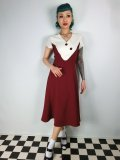 ☆Collectif☆Jenna Flared Dress Burgundy 11号