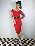 ☆Collectif☆Dolores Dress Plain Red 15号