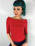 ☆Collectif☆Bridgette Knitted Top Red 7号