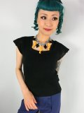 ☆Collectif☆Pia Square Neck Knitted Top Black 17号