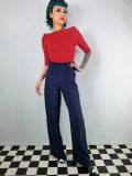 ☆HELL BUNNY☆Nelly Bly Trousers Navy 11号