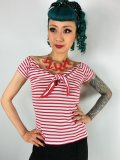 ☆HELL BUNNY☆Dolly Top White/Red 11号