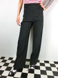 ☆HELL BUNNY☆Nelly Bly Trousers Black 13号