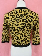 他の写真3: SOURPUSS ☆LEOPARD CROPPED CARDIGAN MUSTARD  9号