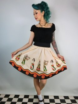 画像1: SOURPUSS SIDESHOW LADIES SWING SKIRT 9号