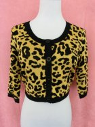 他の写真1: SOURPUSS ☆LEOPARD CROPPED CARDIGAN MUSTARD  9号