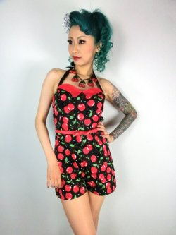 画像1: SOURPUSS ☆ CHERRY PIE ROMPER 9号