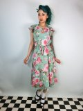 ☆Collectif☆ Tamara Watercolour Floral Chiffon Dress 11号