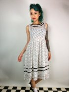 他の写真1: ☆Lindy Bop☆Rosina White Polka Dot Swing Dress 11号