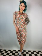 他の写真1: ☆Collectif☆Dolores Pineapple Print Pencil Dress 9号