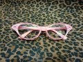 Cat Eye Glasses -Coral Pink